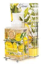 Michel Design Works Foaming Hand Soap and Napkin Caddy Set, Lemon Basil,