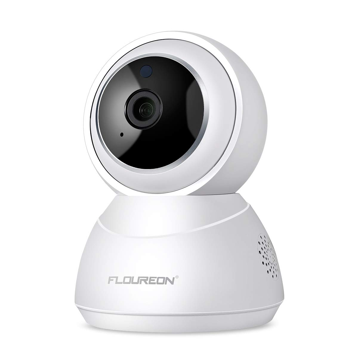 FLOUREON YI Cloud Home Camera, 1080P HD Pan/Tilt/Zoom Wireless IP Security Surveillance System with Smart Tracking, Night Vision Two Way Audio for Baby Monitor Pet Camera Home Security (White)