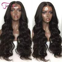Jessica Hair 180% Density 360 Lace Frontal Wigs Free Part Body Wave Human Hair Wigs Brazilian Remy Hair Wet Wavy Glueless Top Lace Wigs Pre Plucked With Baby Hair (20 inch with 180% density)