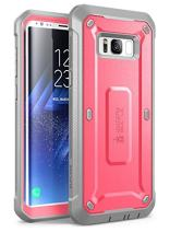SUPCASE Unicorn Beetle Pro Series Phone Case for Galaxy S8 Plus, Full-Body Rugged Holster Case WITHOUT Screen Protector for Samsung Galaxy S8 Plus (2017 Release) (Pink/Gray)