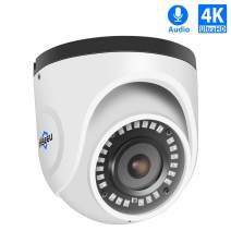 Hiseeu 4K PoE Dome IP Camera,UltraHD Security Camera with Audio,3840 by 2160 Pixels,131ft Night Vision 2.8mm Lens,Sony Sensor IMX274,IP67 Waterproof,Compatible with Any ONVIF NVR