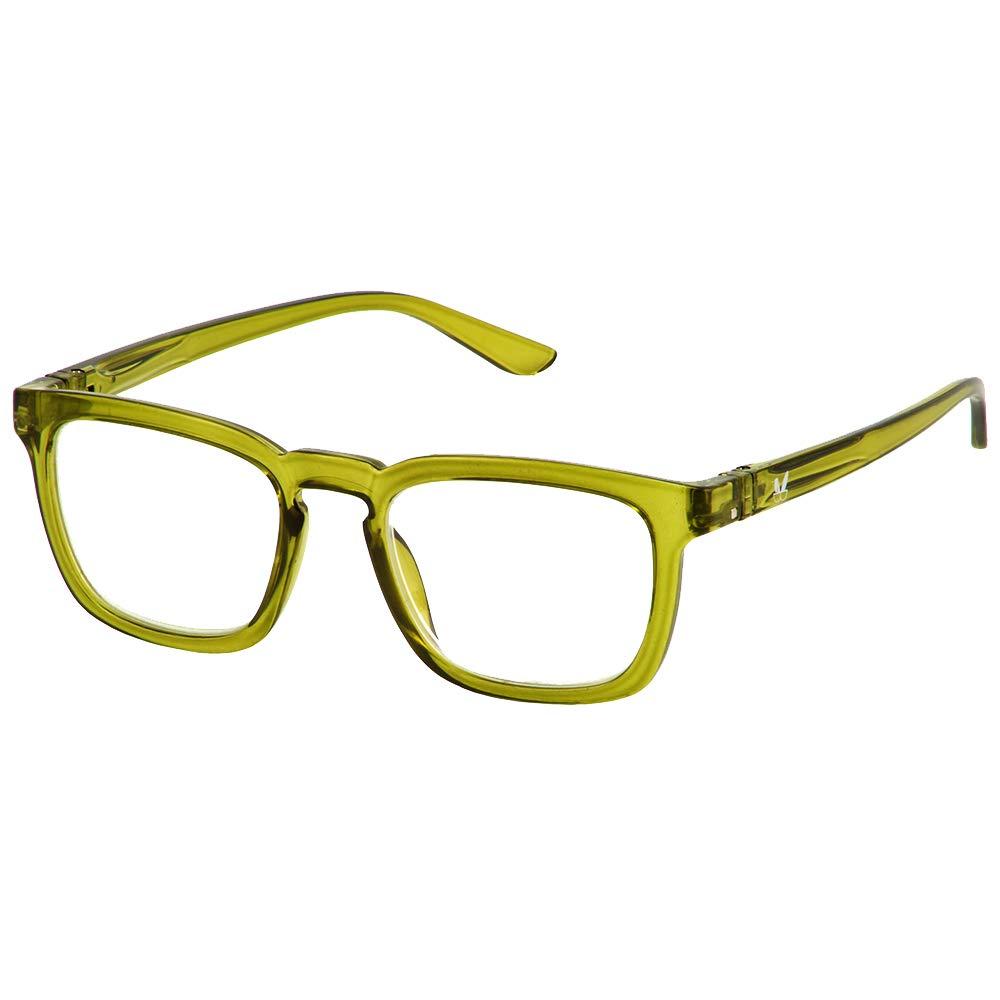 Bunny Eyez Harrison Wearable, Tilt-able, Flip-able Guyz Reading Glasses (Dark Green, 3.00)
