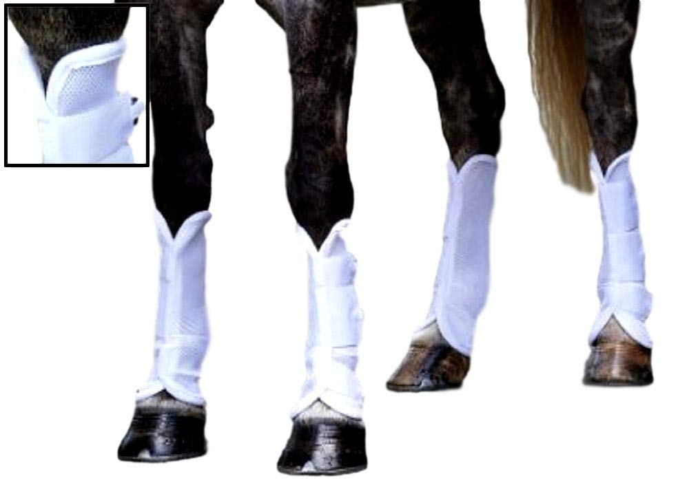Shires Airflow Turnout Socks, Lightweight Mesh Horse Fly Boots, Insect Bites Repellant | Pack of 4