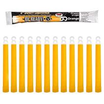 Windy City Novelties Be Ready Orange Glow Sticks - Industrial 12 Hour Illumination Emergency Safety Chemical Light Glow Sticks