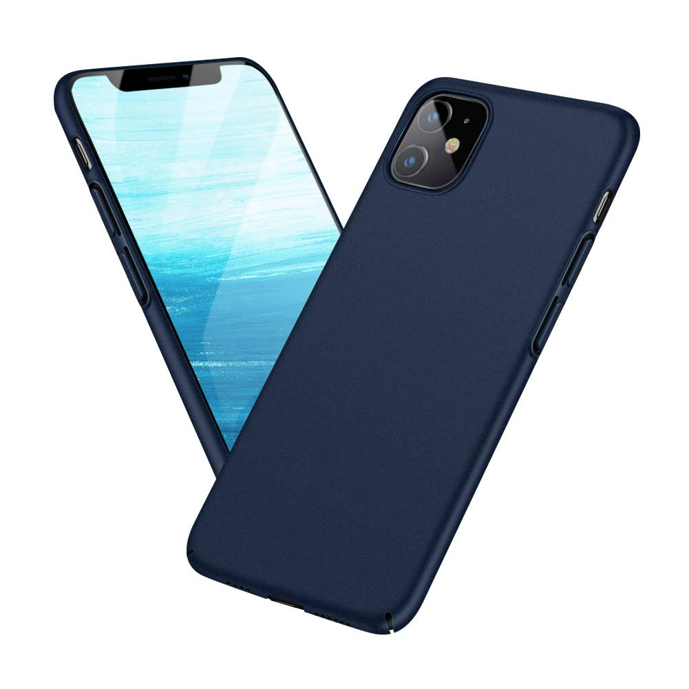 Meidom Case for iPhone 11 with Matte Finish Grip Slim Fit Anti Fingerprints Phone Cover for iPhone 11 (6.1 inch) - Blue