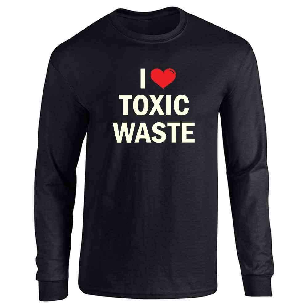 I Love Toxic Waste Retro 80s Halloween Costume Full Long Sleeve Tee T-Shirt