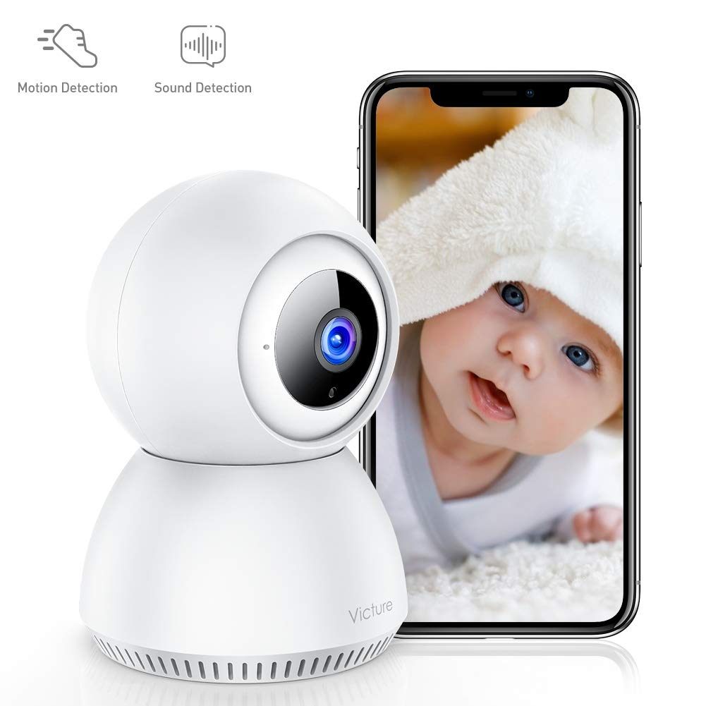 [Stay Strong,USA]Victure 1080P Home Security Camera Wireless Indoor Surveillance Camera Smart 2.4G WiFi IP camera with 2-Way Audio Night Vision Sound Detection and Motion Tracking for Baby/Pet Monitor