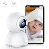 Victure 1080P Home Security Camera Wireless Indoor Surveillance Camera Smart 2.4G WiFi IP Camera with 2-Way Audio Night Vision Sound Detection and Motion Tracking for Baby/Pet Monitor