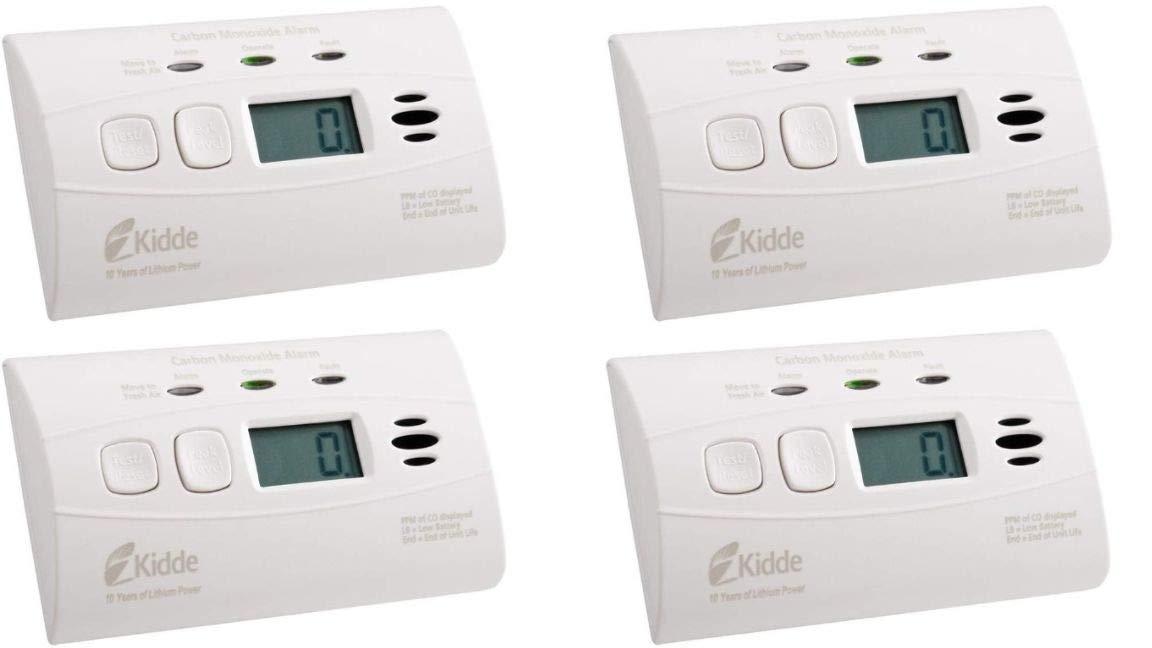 Kidde Sealed Lithium Battery Power Carbon Monoxide Alarm with Digital Display C3010D (with Digital Display 4-Pack)
