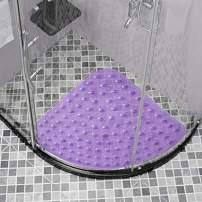Doomfist Rectangle Bath Tub Shower Mat Non-Slip and Latex Free,Bathtub Mat with Suction Cups, Machine Washable Bathroom Mats with Drain Holes (54CM-Sector, Purple)