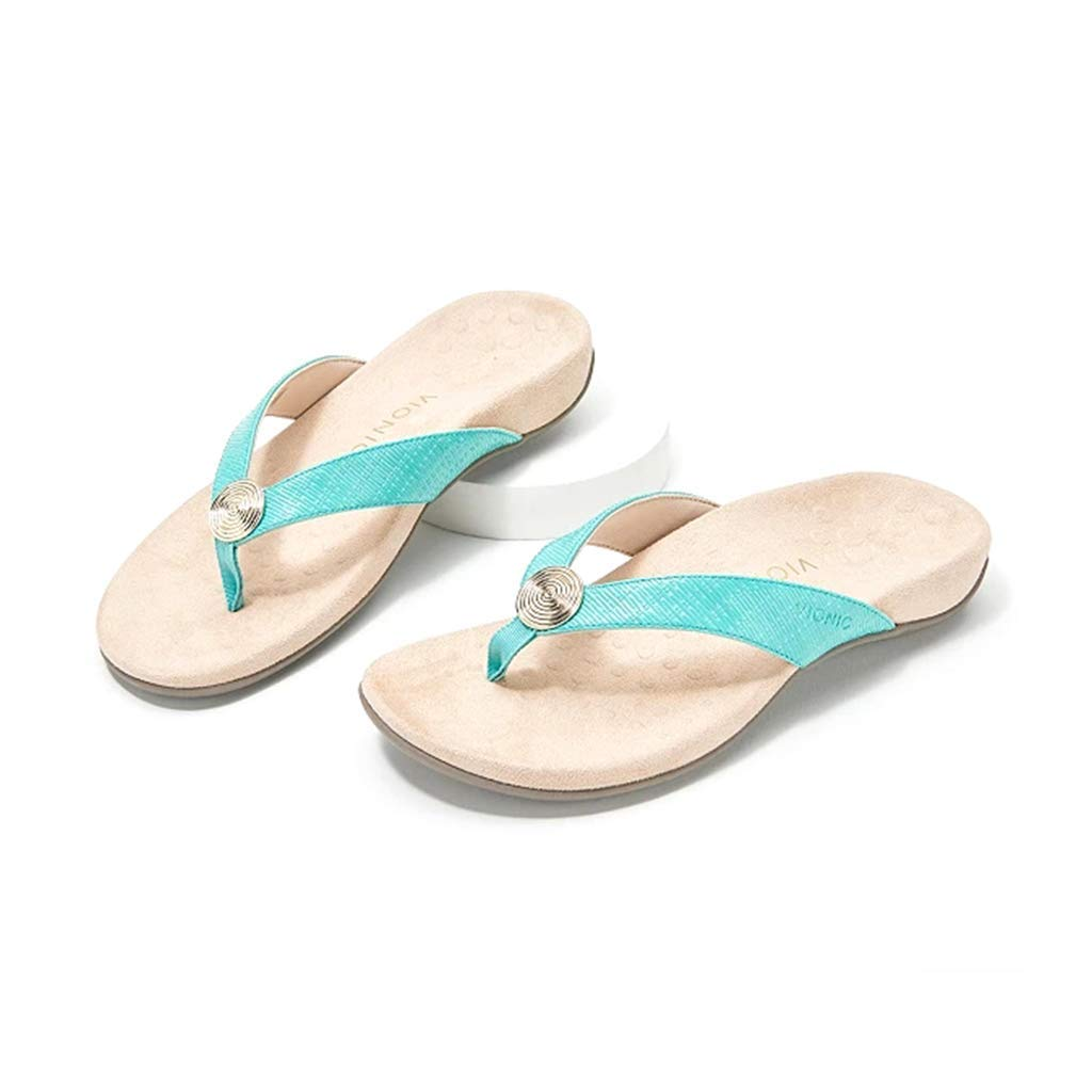 HAVINA Flip Flops Comfort Sandals for Women with Arch Support for Comfortable Walk