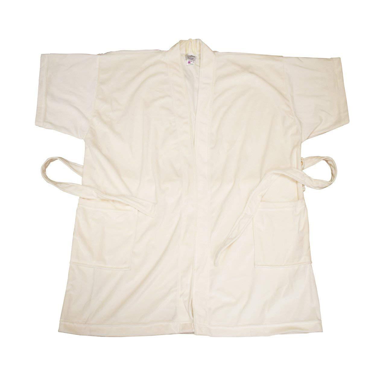 Canyon Rose Cloud 9 Women's Plush Microfiber Short Sleeve Knee Length Robe, Soothing Sand