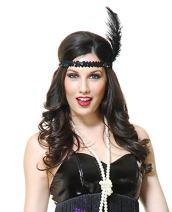 Charades Women's Sequin Flapper Costume Headband