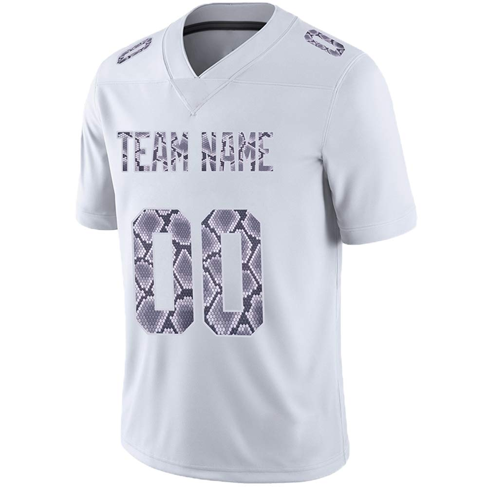 Pullonsy White Custom Football Jerseys for Men Women Youth Embroidered Team Name and Your Numbers S-8XL Design Your Own