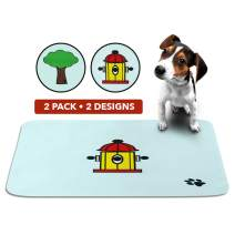 SKA Products Cute Washable Puppy Pads | Reusable Eco-Friendly Multi Packs | Large Super Absorbent Pet Pee Mats | Dog Crate Training, Housebreaking