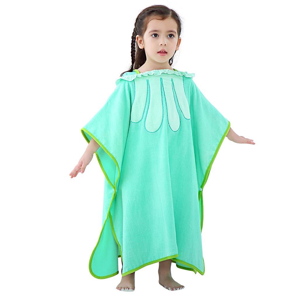 IDGIRLS Kids Extra Large Beach Towel, Bulk Soft Baby Bath Towels, Kids Thick Cotton Bath Towel Light Green