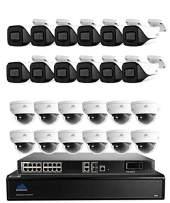 4K HD IP 32 Channel NVR Home Security Camera System with 24 Indoor/Outdoor 4K Security Cameras - Montavue MTIP8326124KBP124KDP