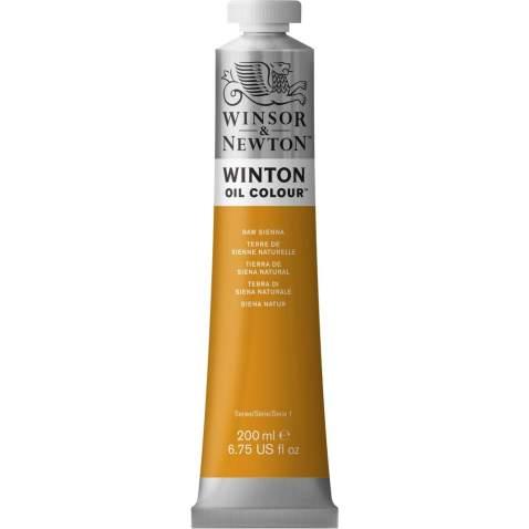Winsor & Newton Winton Oil Colour Paint, 200ml tube, Raw Sienna