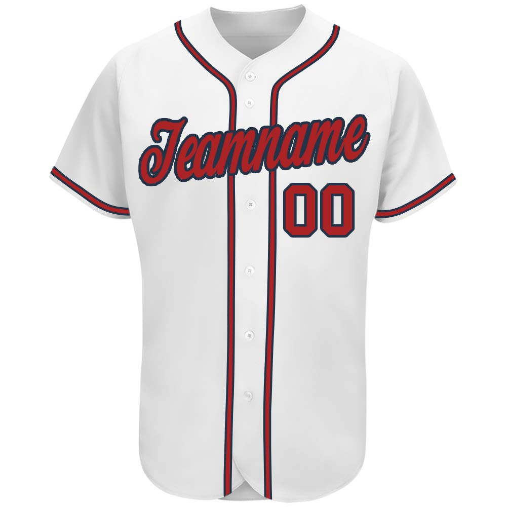 Personalized Custom Baseball Jersey Full Button Shirts Printed&Stitched Team Uniforms Name&Numbers Unisex (Adult/Youth)