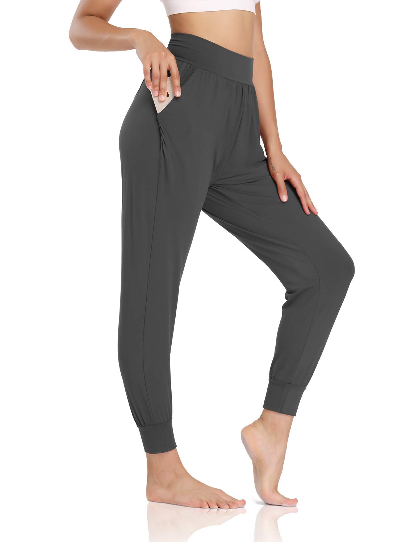 DIBAOOLONG Womens Yoga Joggers Loose Workout Sweatpants Comfy Lounge Pants with Pockets