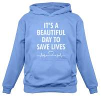 Tstars - It's a Beautiful Day to Save Lives Gift for Nurse Women Hoodie