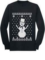Big Snowman Ugly Christmas Sweater Style Cute Xmas Long Sleeve Kids T-Shirt