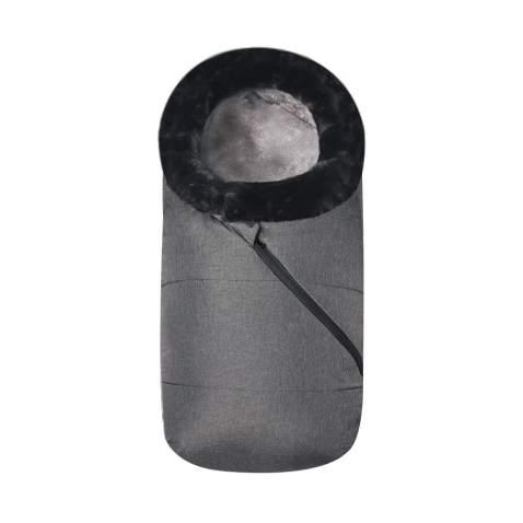 Fur Collar Baby Stroller Sleeping Bag Newborn Sleep Sack Thicken Warm Infant Sleepsacks Keep Warm Waterproof Windproof (Black)
