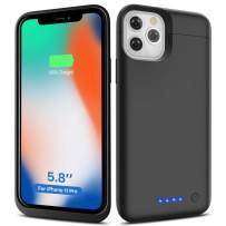 Battery Case for iPhone 11 Pro, 5500mAh Upgraded High Capacity Portable Protective Charging Case, Extended Rechargeable Power Battery Pack Charger Case Backup For iPhone 11 Pro (5.8 inch) – Black