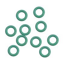 uxcell Fluorine Rubber O Rings, 7mm OD, 4mm Inner Diameter, 1.5mm Width, Seal Gasket Green 10Pcs