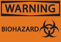 "ZING 1919A Eco Safety Sign, Warning Biohazard, Recycled Aluminum, 7"" H x 10"" W, Black on Orange"