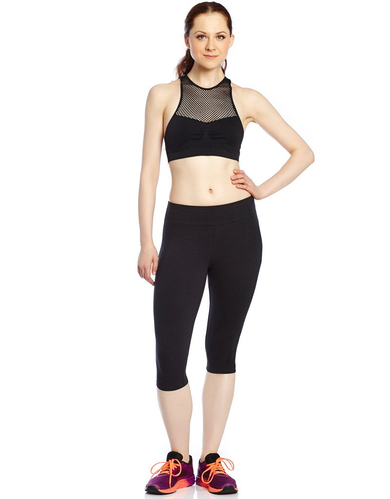 Leveret Women's Pants Cotton Yoga Capri Pants Workout Legging (Size XSmall-XLarge)