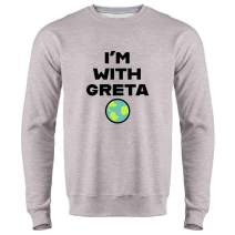 Earth Day Climate Change I'm with Greta Science Crewneck Sweatshirt for Men
