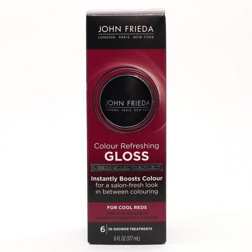 John Frieda Colour Refreshing Gloss, Cool Red, 6 Ounce