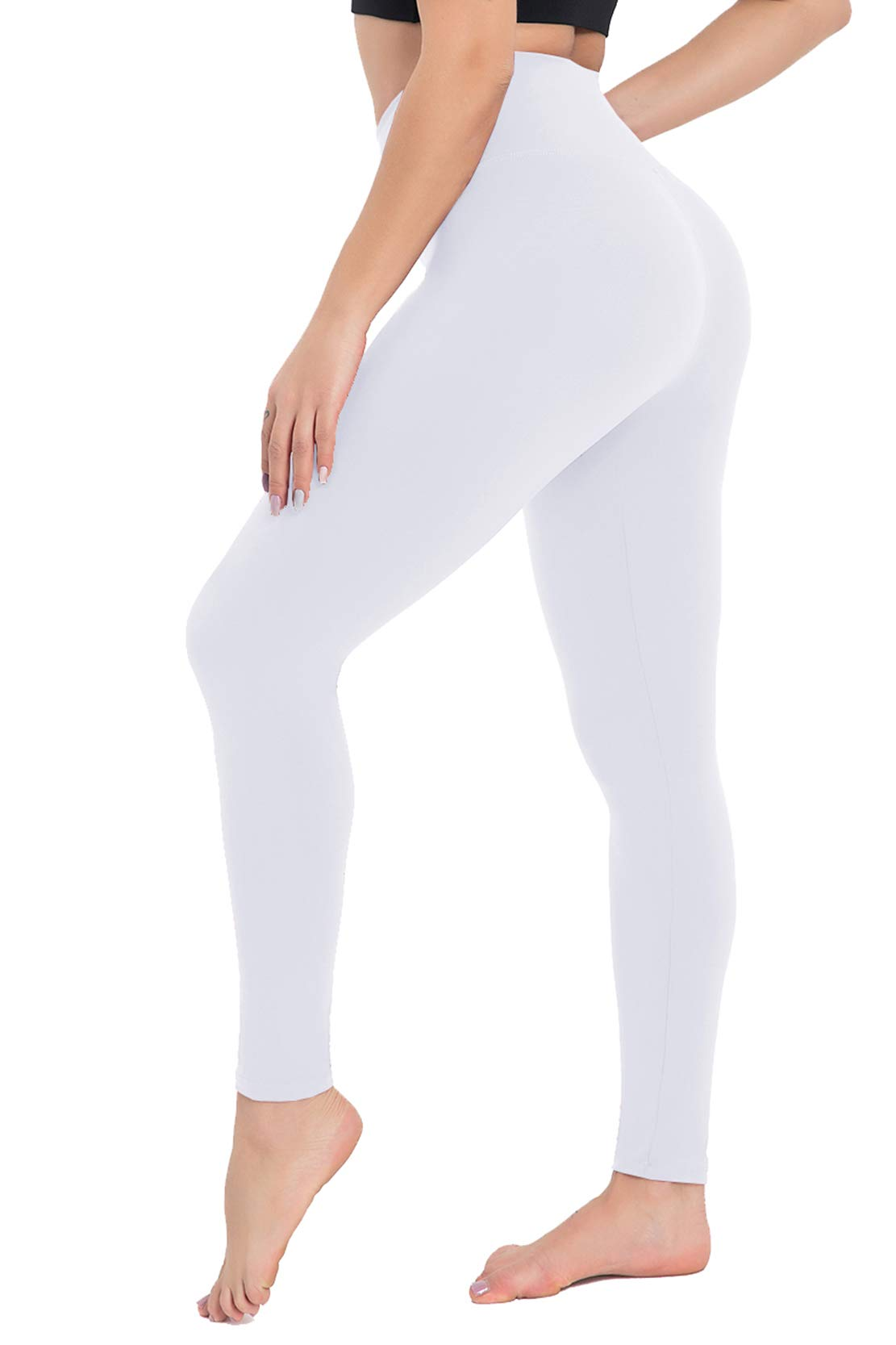 CAMPSNAIL Women High Waisted Leggings - Soft Tummy Control Slimming Yoga Pants for Workout Athletic Running Reg & Plus Size