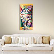 Linzi Lynn's Night Hunt, Gallery Wrapped canvas 18x36