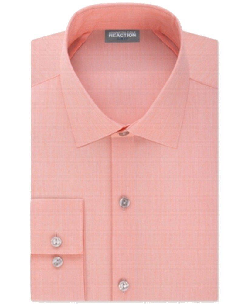 Kenneth Cole Reaction Men's Slim-Fit Techni-Cole Flex Collar Solid Dress Shirt