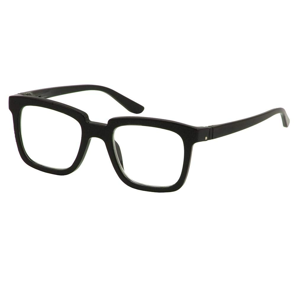 Bunny Eyez Bunny Wearable, Tilt-able, Flip-able Women's Reading Glasses - Glossy Black Onyx (+3.00)