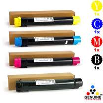 Professor Color Re-Coded OEM Toner Cartridge Replacement for Xerox WorkCentre 7845 7855 7525 7835 7556 7830 7535 7530 7545 (4 Pack Assorted)