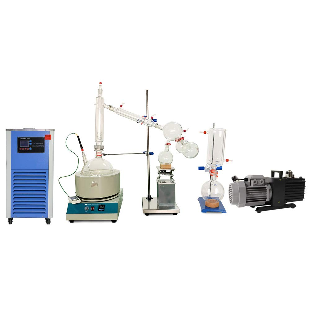 HNZXIB 10L Lab Glass Path Fractional Kit Equipment Short Path Distillation