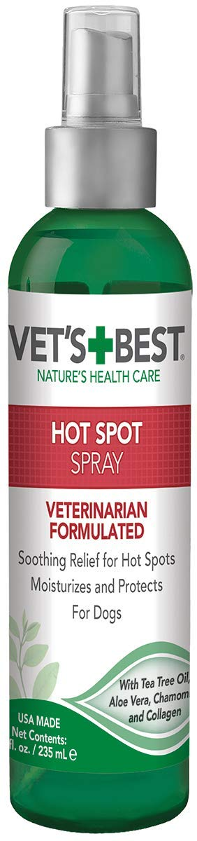 Vet's Best Dog Hot Spot Itch Relief Spray    Relieves Dog Dry Skin, Rash, Scratching, Licking, Itchy Skin, and Hot Spots   No-Sting and Alcohol Free   8 Ounces