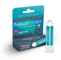 Breathe Clear Nasal Inhaler Stick for Stuffy Nose, Congestion, and Coughing, Menthol Tube Comparable to Vicks VapoInhaler, Fast and Soothing Relief for Sleep, Travel, or Work (4) (1)