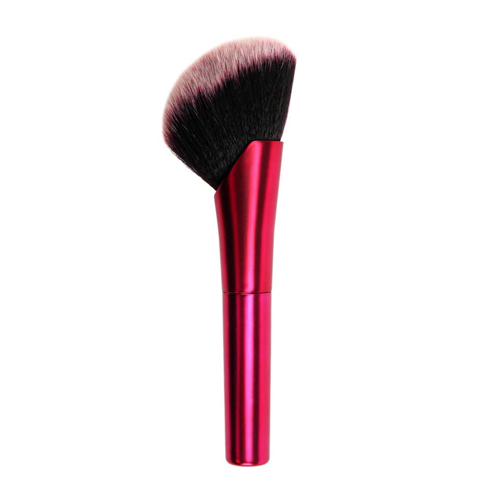 ApexOne Synthetic Blush and Bronzer Brush with AL handle - Big Angled Kabuki Makeup Brush - Premium Foundation Makeup Brush, Perfect for Liquid, Creams and Powder Face Contouring and Highlighting(Red)