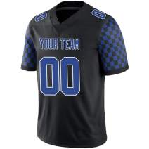 Pullonsy Black Custom Football Jerseys for Men Women Youth Embroidered Names and Numbers S-8XL Design Your Own
