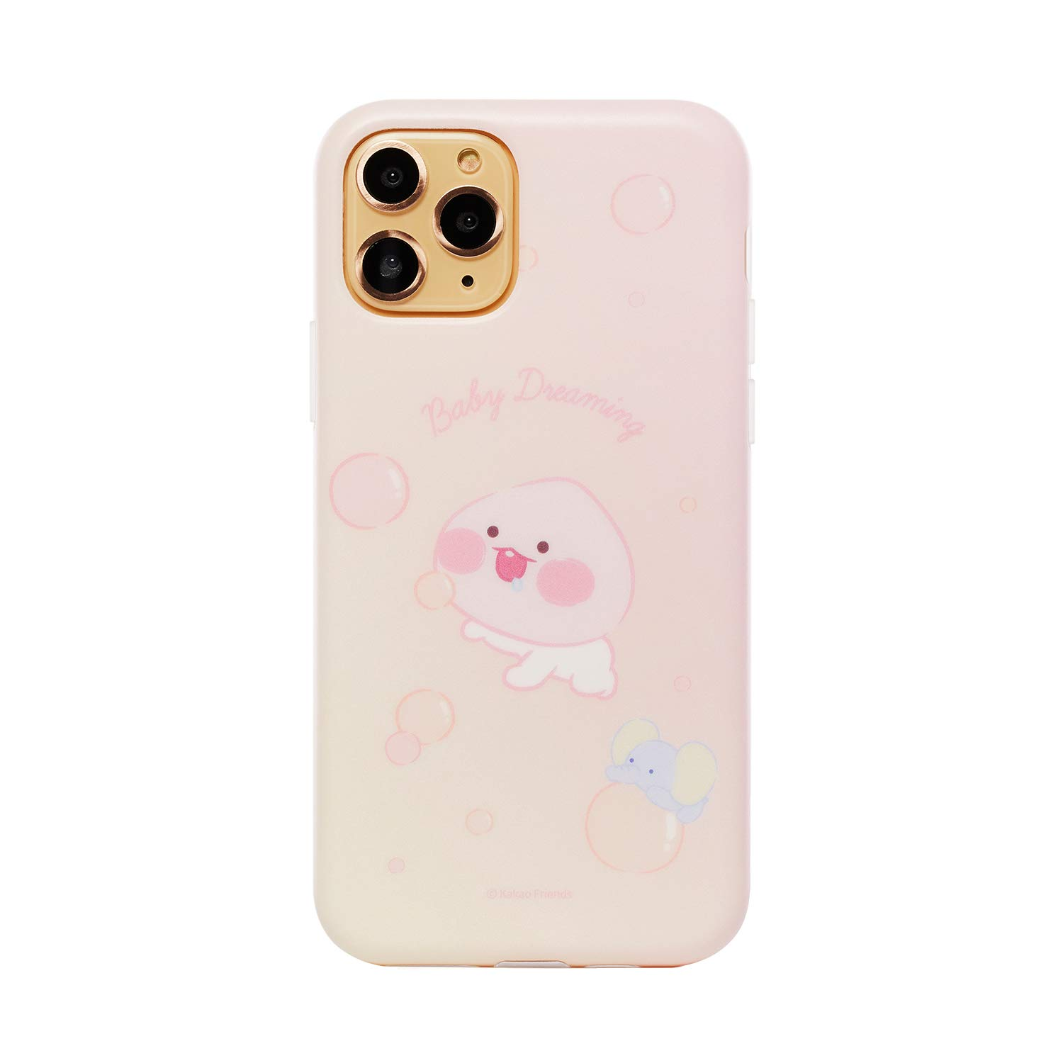 KAKAO FRIENDS Official- Baby Dreaming TPU Cell Phone Case, Compatible with iPhone (Little Apeach, iPhone 11 Pro)