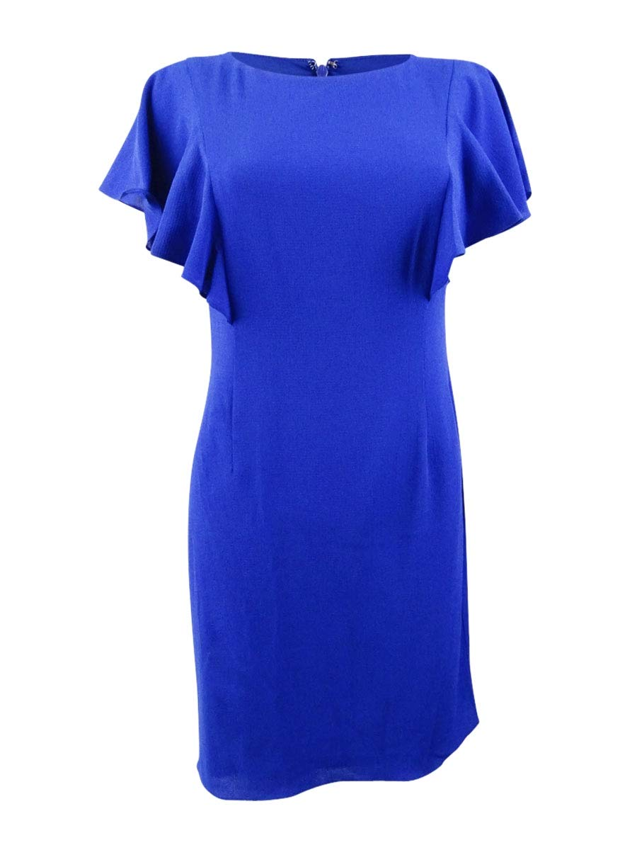 Jessica Howard Women's Petite Butterfly Sleeve Sheath Dress