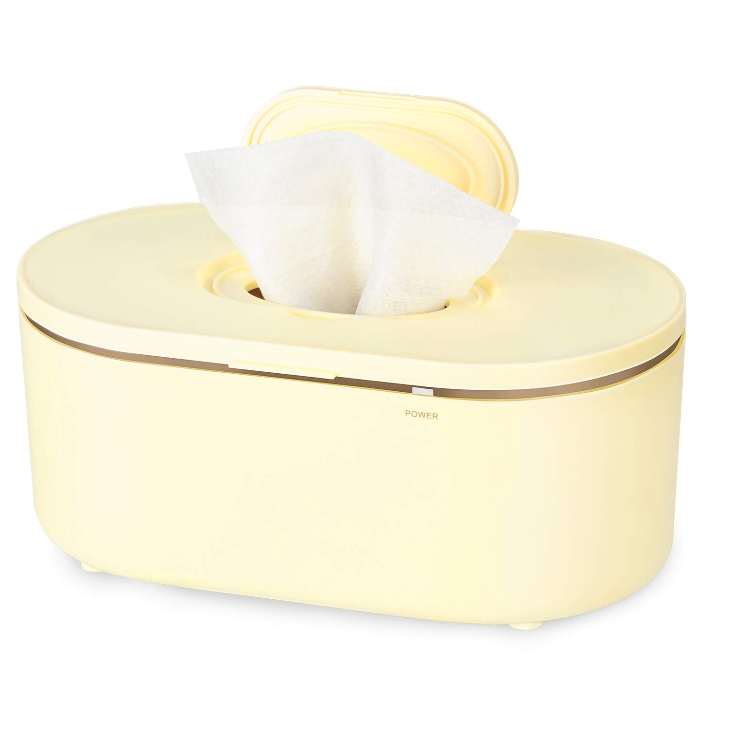 BAMMAX Wipe Warmer, Baby Wet Wipes Dispenser Holder Kid Diaper Wipe Warmer with Evenly and Quickly Surround Heating, Large Capacity, Super Silent, Soft Lighting, Perfect Warmth for Baby and Adult Wipe