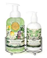 Michel Design Works Foaming Hand Soap and Lotion Caddy Gift Set, Tuscan Grove