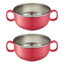 Innobaby Din Din Smart Stainless Steel Starter Bowl (2PK: Pink)