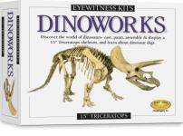 """Skullduggery Eyewitness Kits Perfect Cast Dinoworks 15"""" Triceratops Cast, Paint, Display and Learn Craft Kit"""