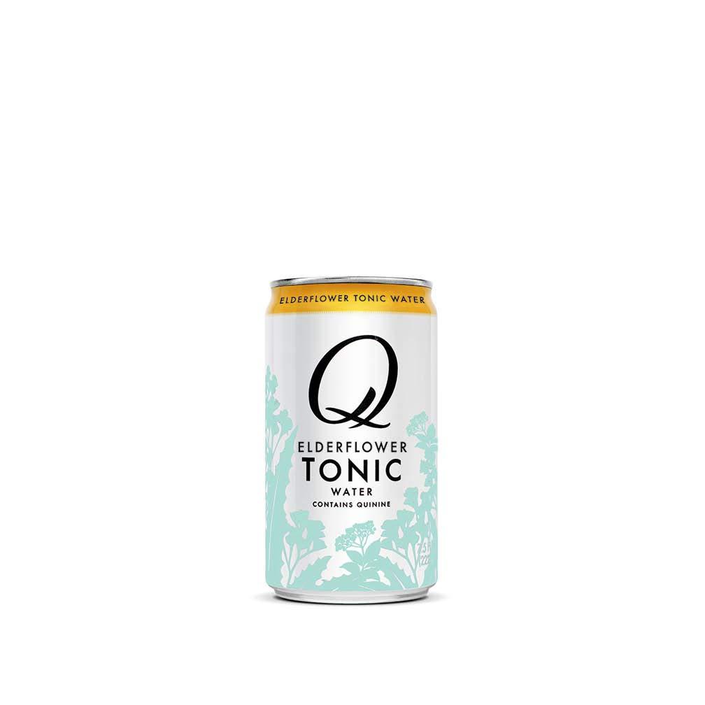 Q Mixers Elderflower Tonic Water, Premium Cocktail Mixer, 7.5 oz (24 Cans)